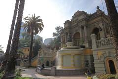 The Neptune Fountain on Santa Lucia Hill in Santiago de Chile