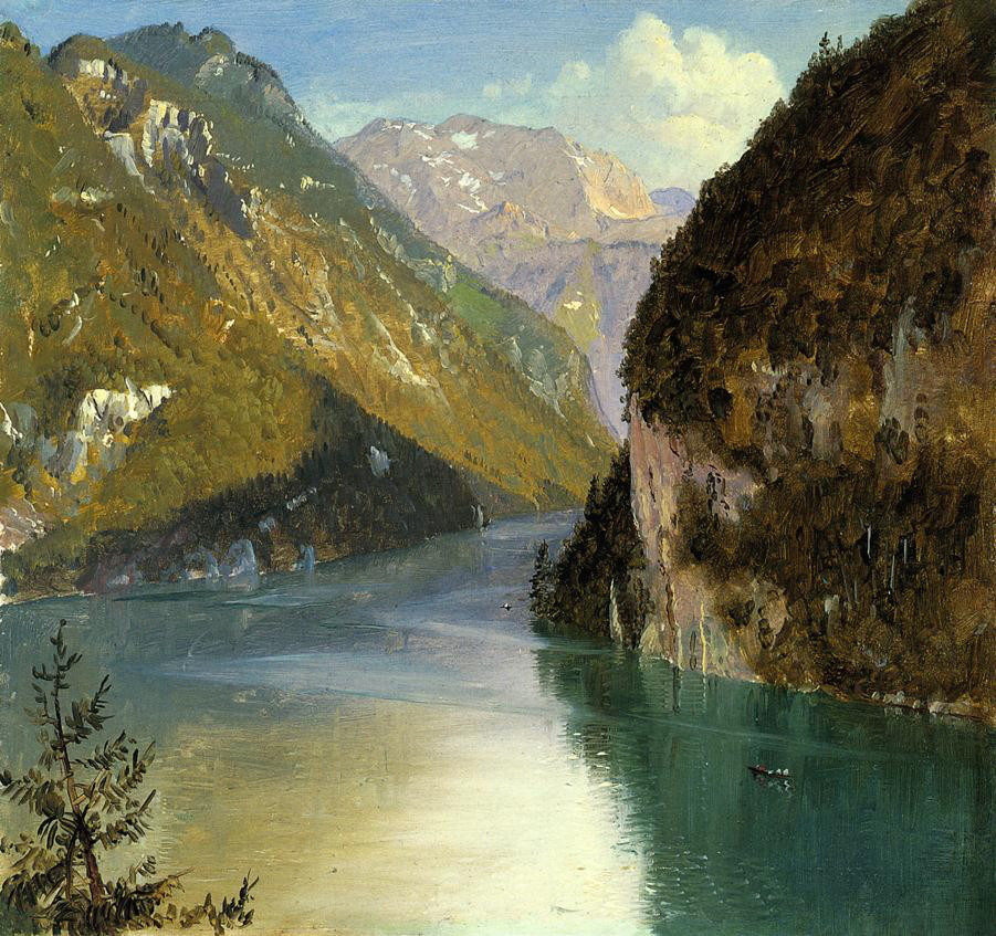 Konigsee, Bavaria by Frederic Edwin Church, 1868