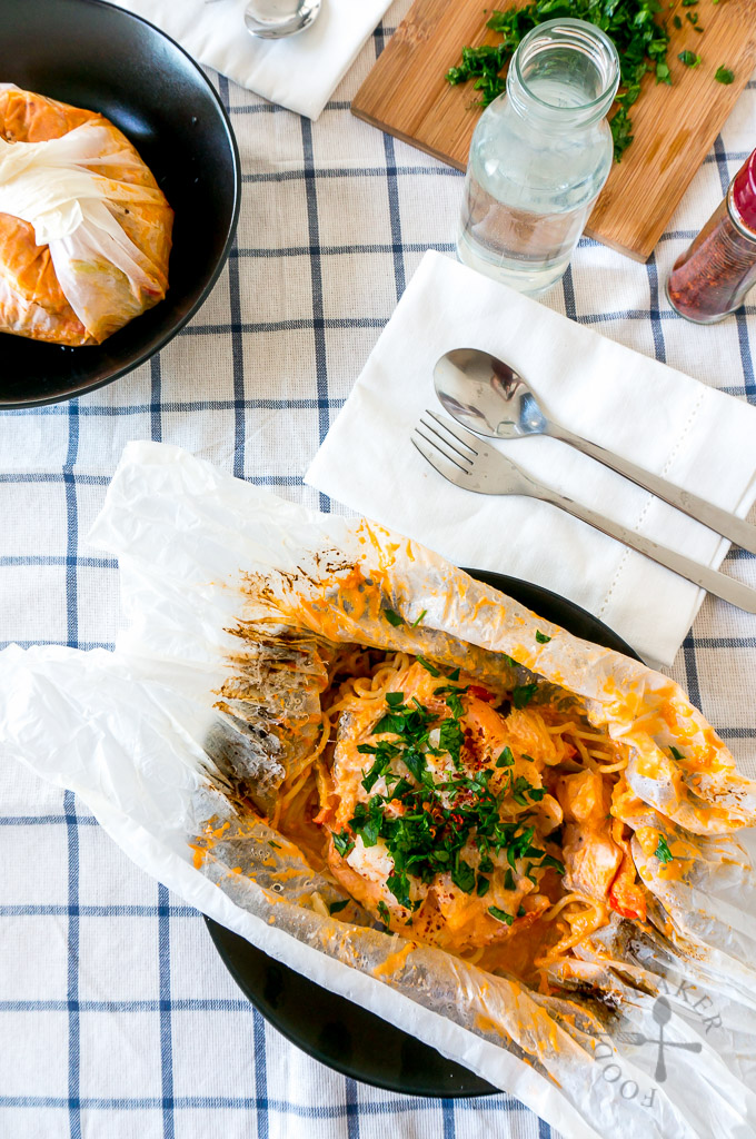 Seafood Spaghetti al Cartoccio