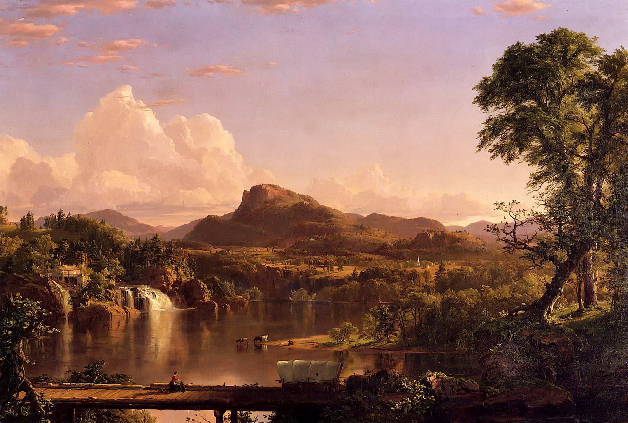 New England Scenery by Frederic Edwin Church, 1851
