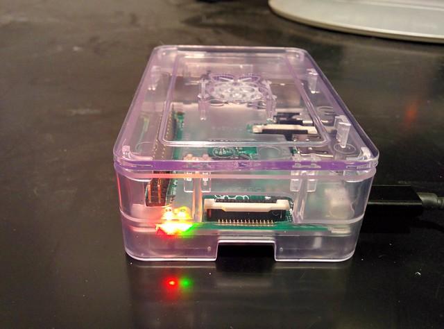 Raspberry Piの起動中の状態