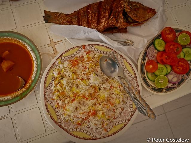 Fish Biriyani for lunch