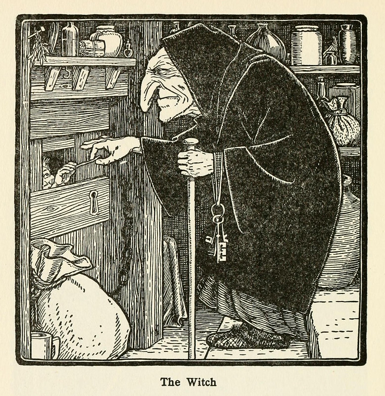 "John D Batten - The Witch, Illustration from ""Europa's Fairy Book,"" 1916"