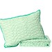 Twin Triangle Stitch Quilt and Sham Set in Mint