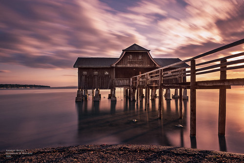 the boathouse at the lake Ammersee
