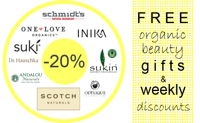 Weekly Discounts and Free Organic Beauty Gifts #53