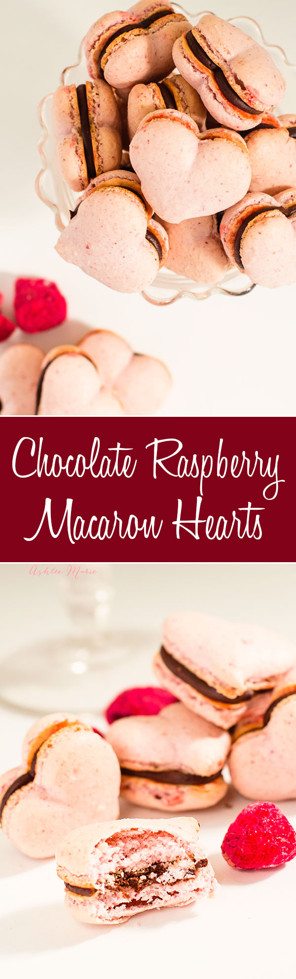 these chocolate raspberry macaron hearts are easy to make and tastes amazing, perfect for valentines