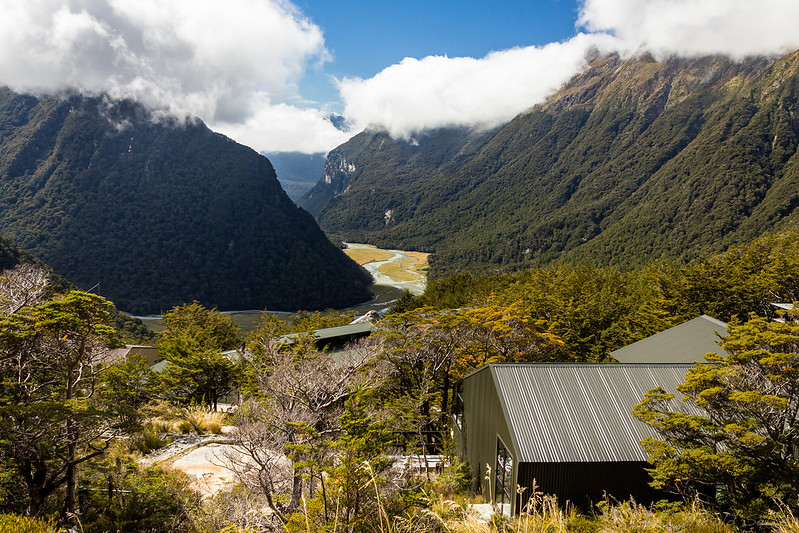 Above the Routeburn Falls Hut