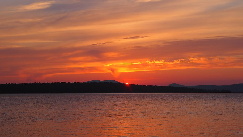 Sunset at Lake Mooselookmeguntic 1