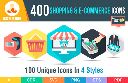 400 Shopping icons