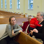 Emily in the pew