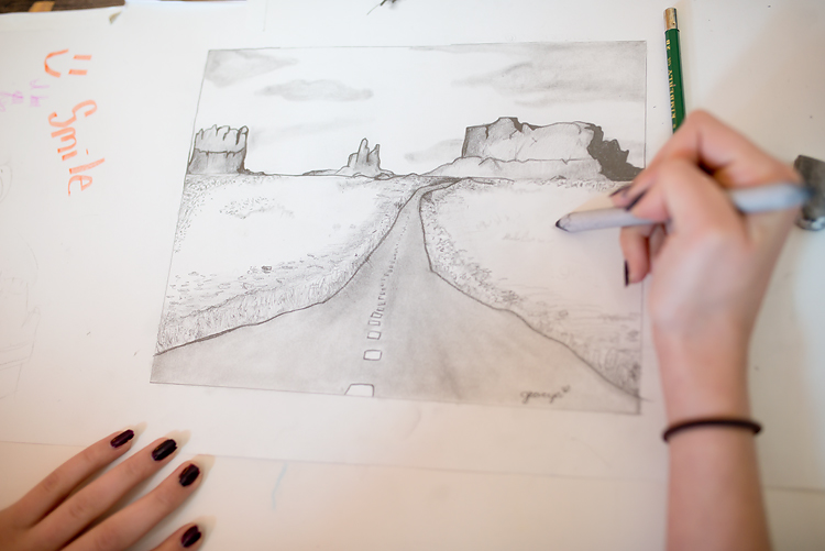 landscape drawing 01-750