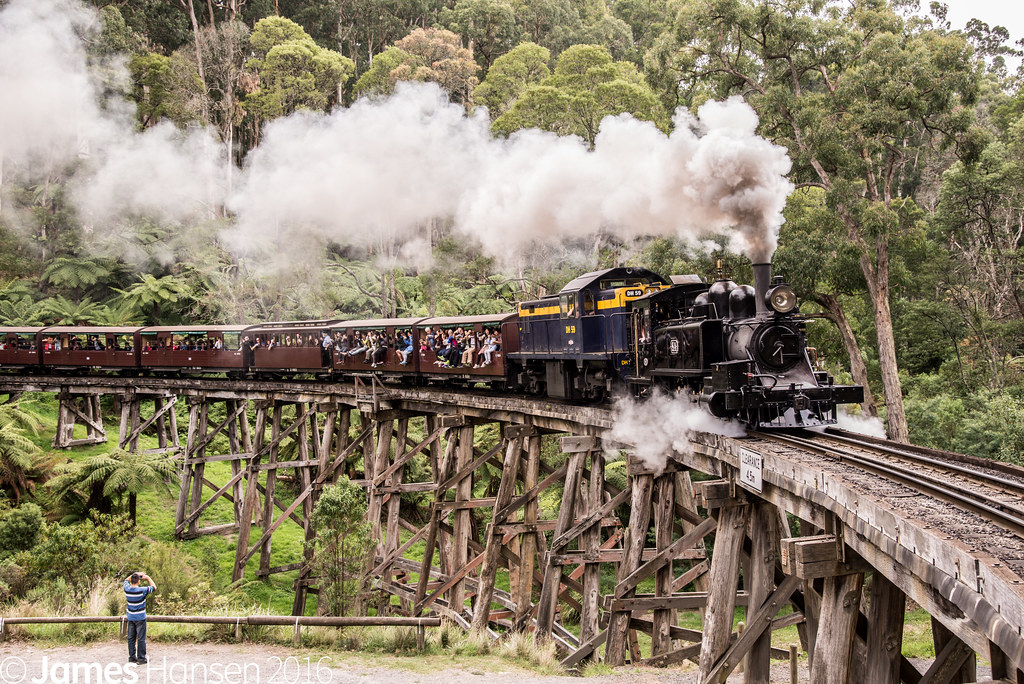 Monbulk Creek Trestle by James Hansen