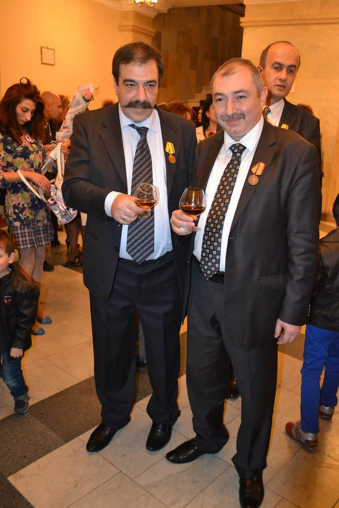Hovhannes Galajyan with Constitutional Rights Union leader Hayk Babukhanyan