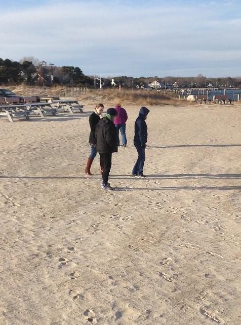 Cold beach visit