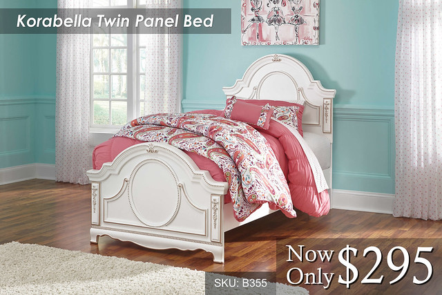 Korabella Twin Panel Bed