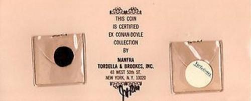 Arthur Conan Doyle MTB coin cover