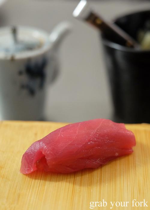 Akami tuna sushi at Sashimi Shinsengumi, Crows Nest