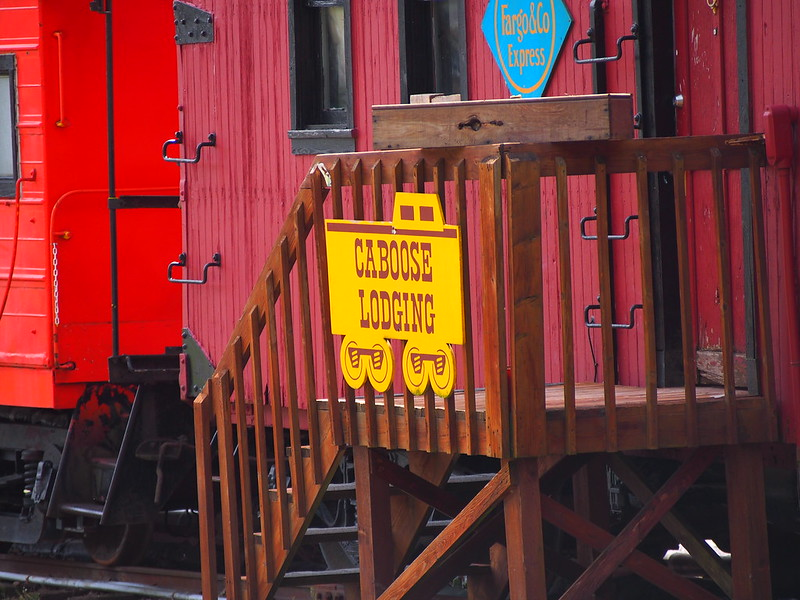 Caboose Lodging: I've found similar hotels in other former railroad towns.