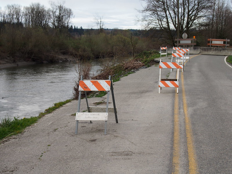 Norman Road Washout: The Stillaguamish River was among the many rivers to wash stuff out during our record Winter.