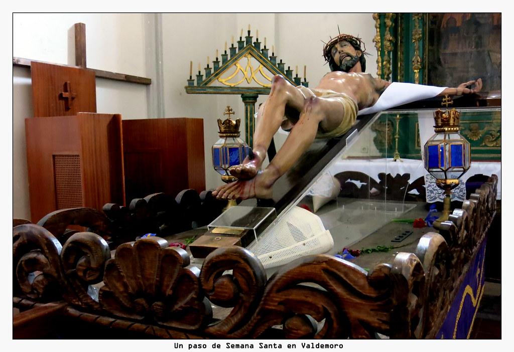 Un paso de Semana Santa en Valdemoro