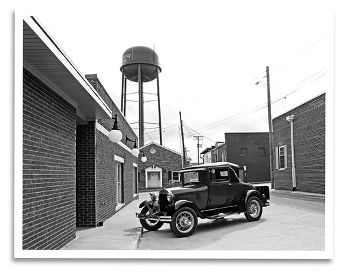 blackandwhite bw classic ford car modela vintage mono ky historic lancaster restored preserved grandtheatre ckmarc centralkymodelarestorersclub
