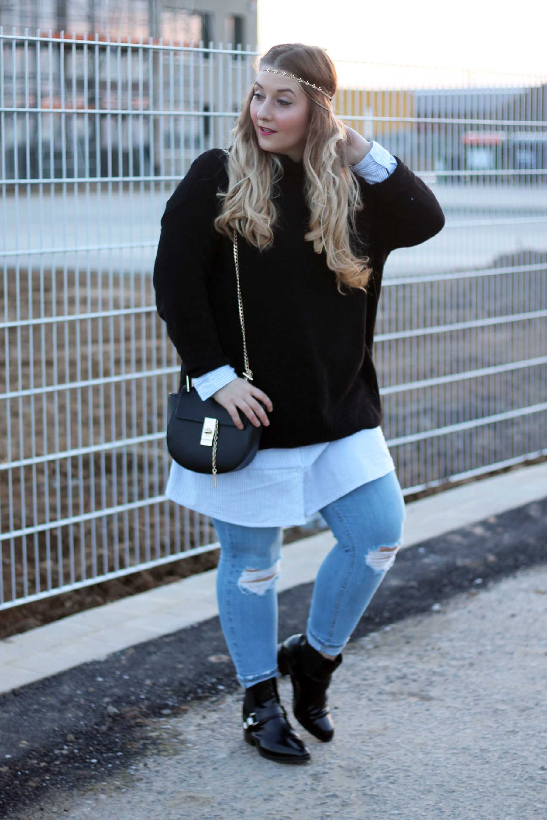 outfit-look-style-ombre-haare-drew-tasche-chloe-jeans