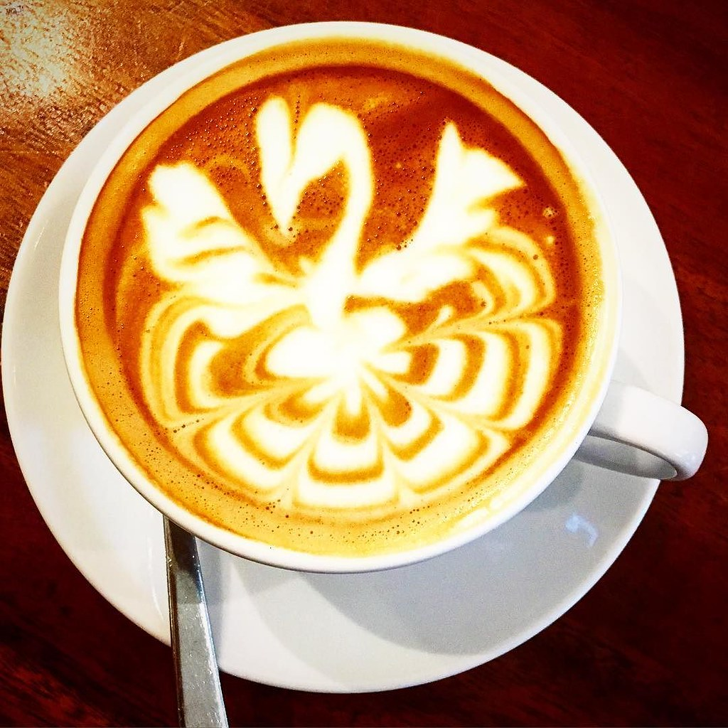 Probably the prettiest #coffee I have been served (I don't drink coffee that often)