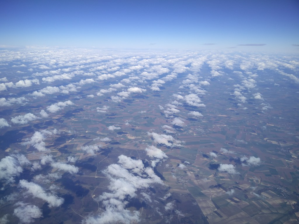 Clouds over east of France