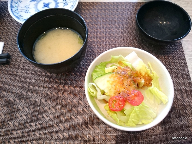 Miso soup & green salad