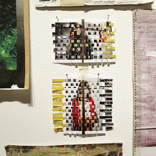 青山アートスクエアにもこの編み込みの作品があって、ディン・Q・レを連想させたんだけど、そのディン・Q・レが作品を展示したまさにその部屋に今片山真里さんが作品を展示していて、その偶然なのか必然なのか、繋がりが面白い。