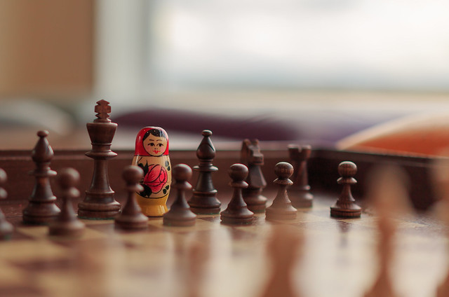 Matreshka in a Chess game in Stavanger Airport, Norway