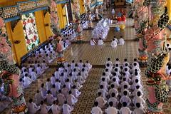 JMF274430  - Vietnam - Función religiosa en el Templo Cao Dai de Tay Ninh.