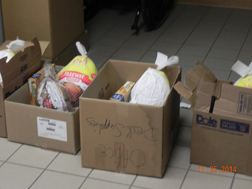 25 Thanksgiving food boxes were given to families of participating students in November 2014, and 30 Christmas food boxes were delivered in December 2014.