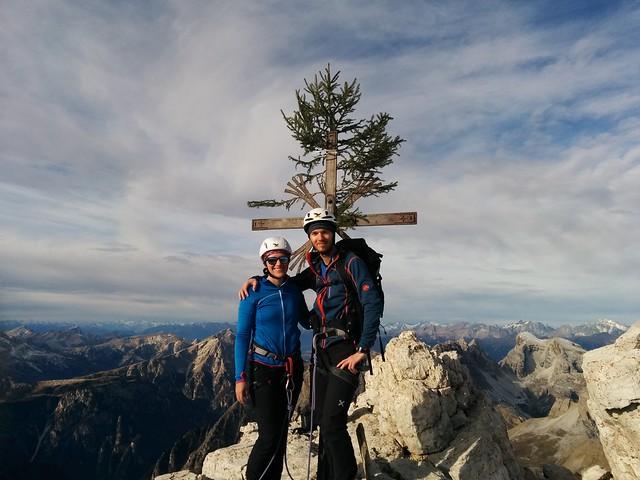 Auf dem Gipfel der Großen Zinne, Drei Zinnen Sextner Dolomiten