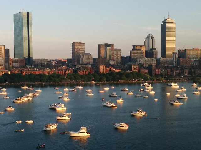 Boats Awaiting Boston Fireworks, July 2015