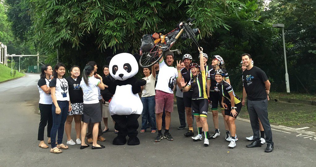 Arrival at WWF Singapore