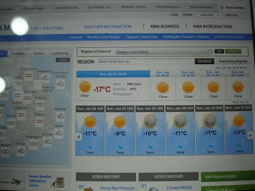 Seoul -17°C