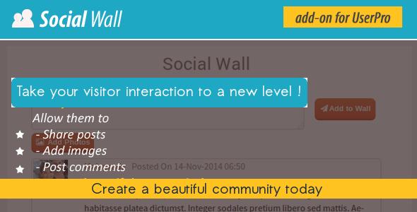 Social Wall Addon for UserPro v3.6