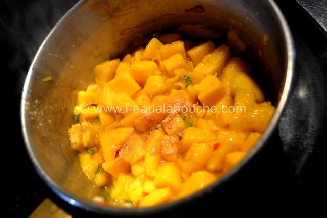 Crevette Géante et Saumon Grillés Crème à la Mangue Pimentée © Ana Luthi Tous droits réservés 12_GF