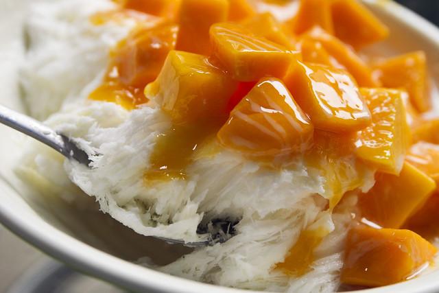 Mango shaved ice at 冰讃 Bing Zan