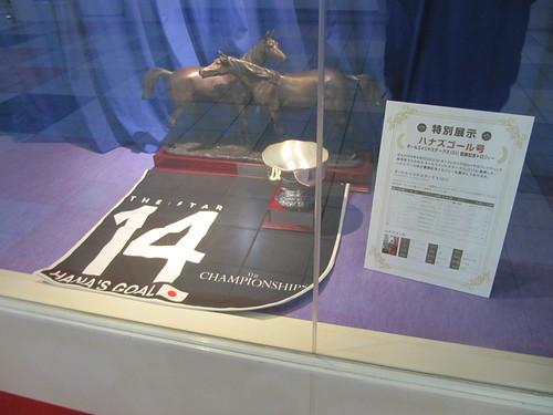 京都競馬場のハナズゴールの展示