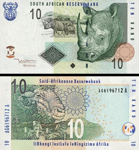 10 Randov Južná Afrika 2005, P128a UNC
