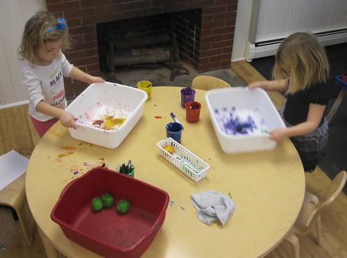 rubber pom pom painting
