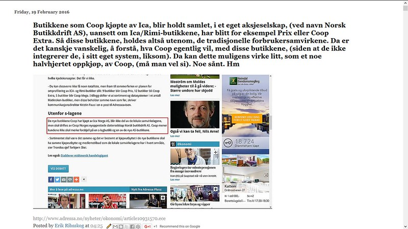 johncons blogg om coop extra