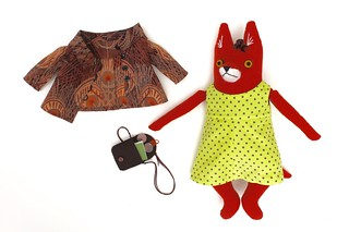 fox girl, fancy coat