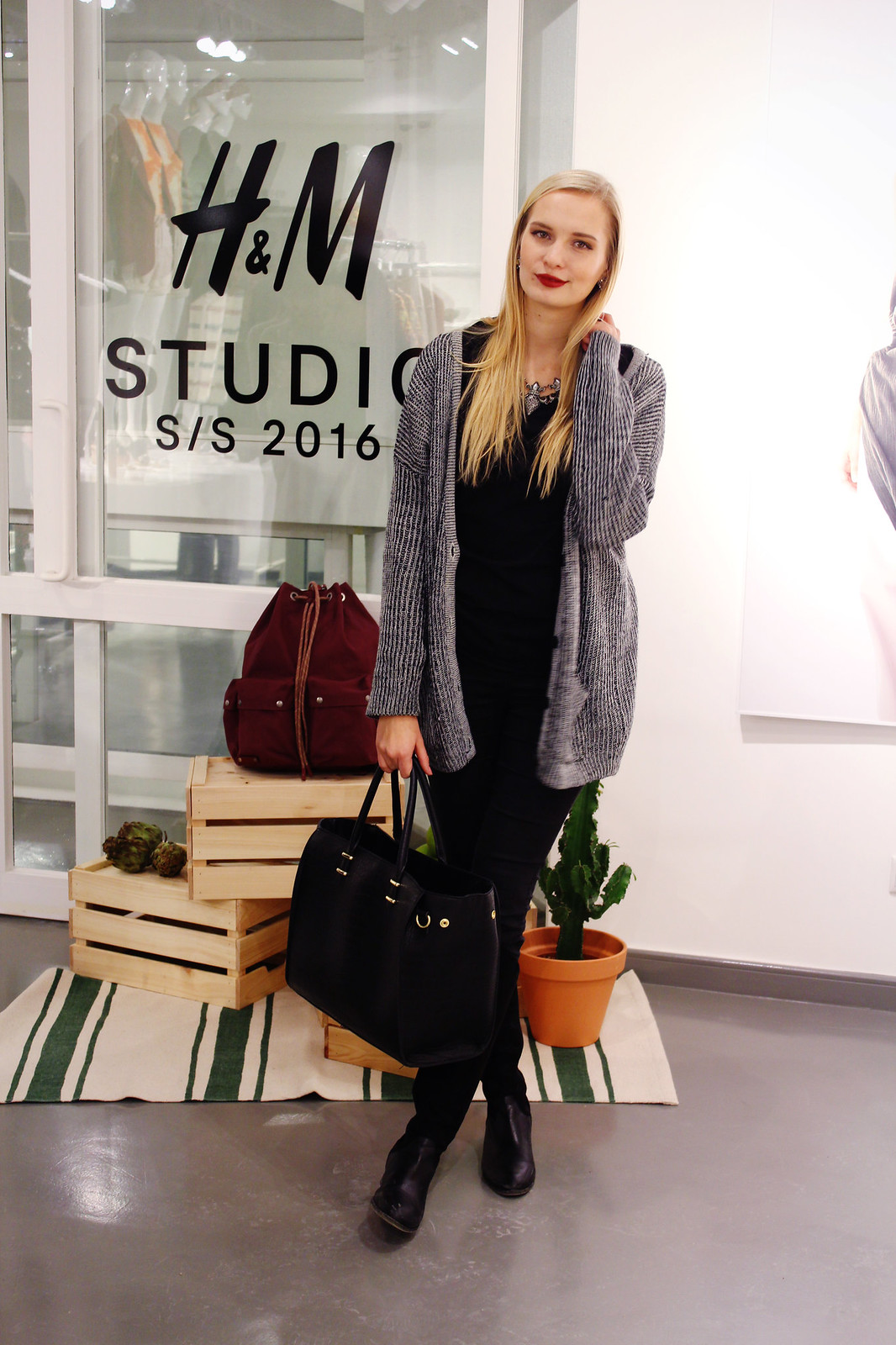 At theH&M Studio SS 16 collection preview event