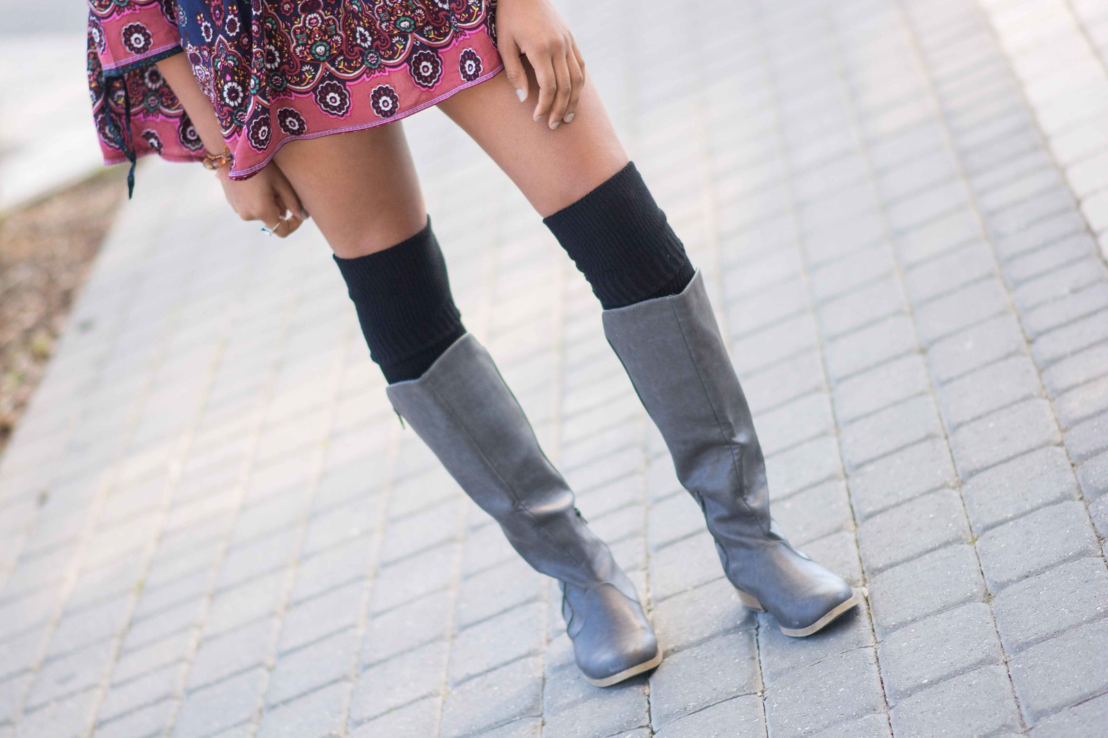 how to style over the knee socks