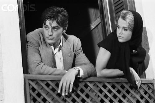 Les Félins - Backstage 3 - Alain Delon & Jane Fonda