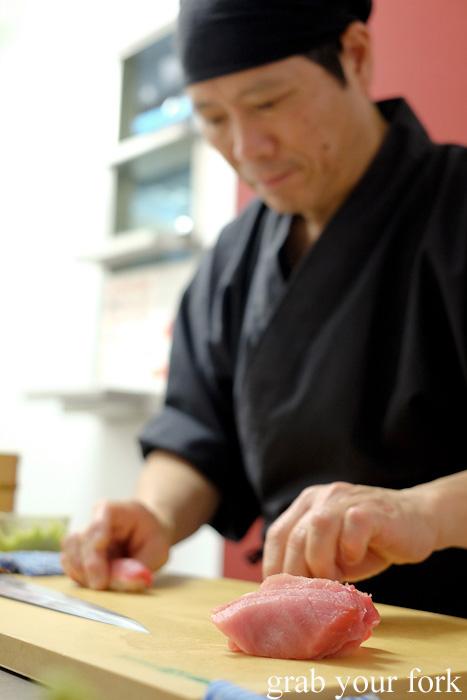 Chutoro tuna at Sashimi Shinsengumi, Crows Nest